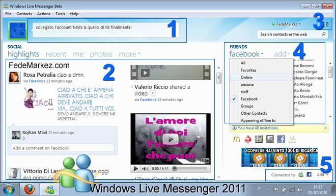 la nuova versione di msn 2011