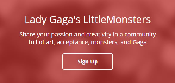 lady gaga social network
