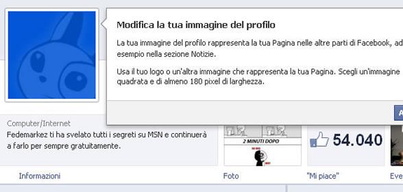 modifiche a pagine facebook