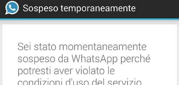 ban whatsapp 24 ore